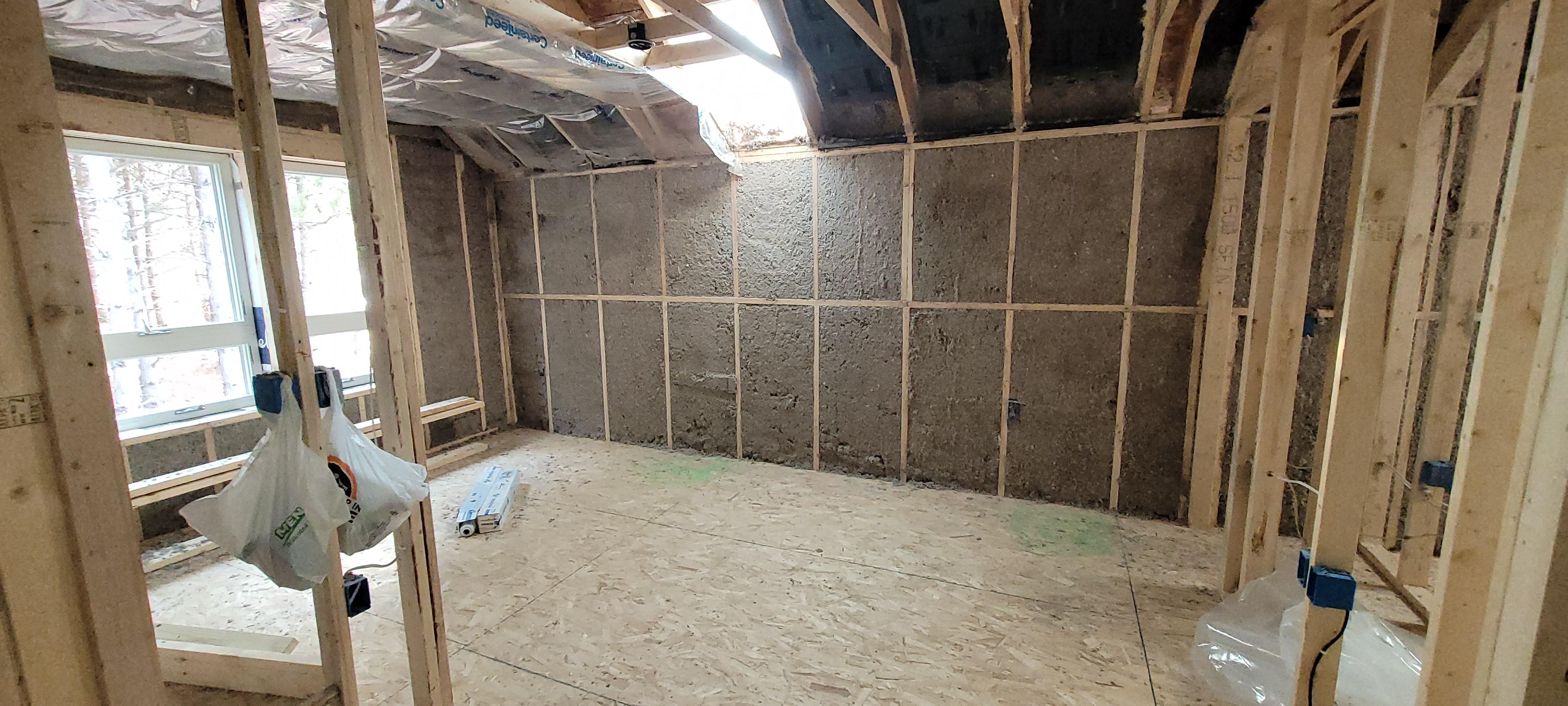Cellulose Wall Spray Insulation Completed Job