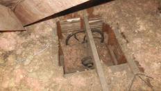 Dumbwaiter in attic needing to be sealed
