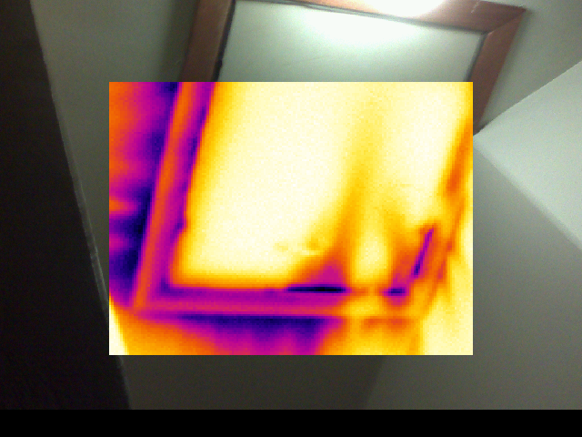 Infrared image of attic hatch