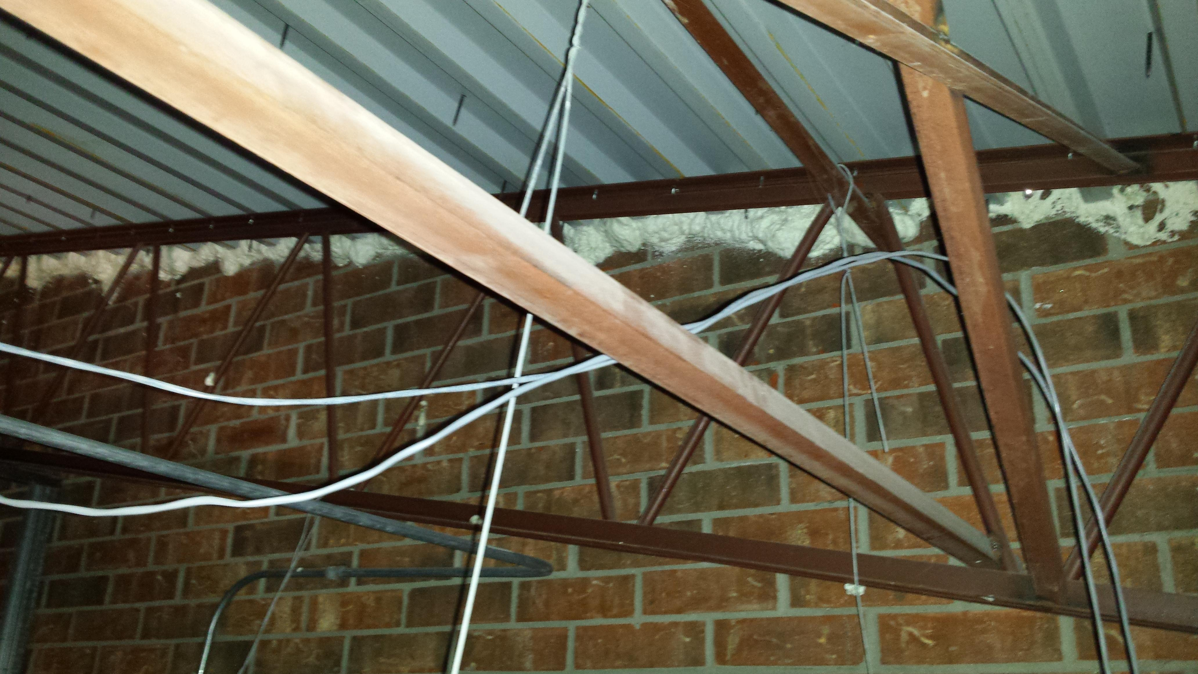 Roof To Wall Juncture After Air Sealing