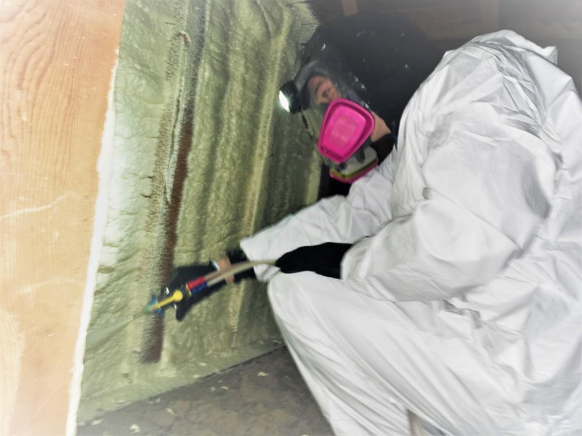 Accurate-Airtight Exteriors Expert Applying Spray Foam